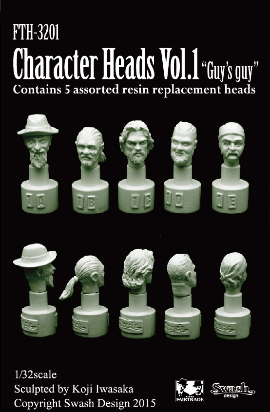 1/32 Character Heads vol.1 ヘッドセット No.1