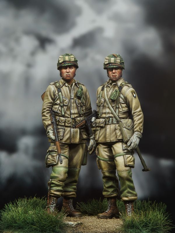 1/35 WWII 米 空挺兵セット (2 体セット )