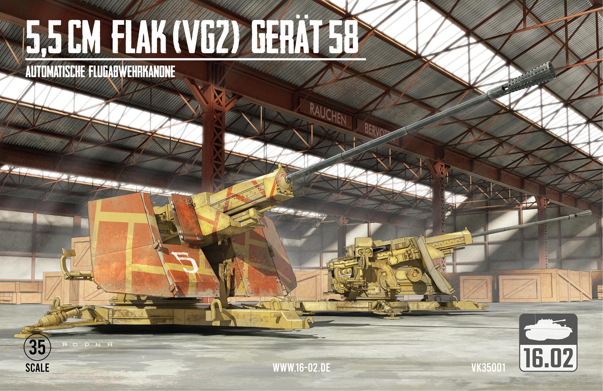 1/35 ドイツ 試製 5.5cm FLAK (VG2) Gerät58