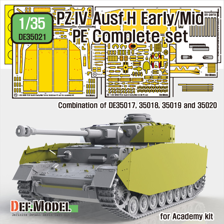 1/35 German Pz.IV Ausf.H Early/Mid PE Complete set