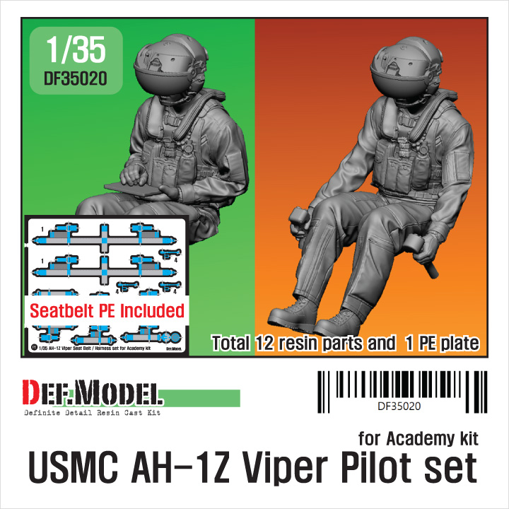 1/35 USMC AH-1Z Viper Pilot set(for Academy kit)