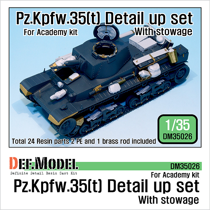 1/35 Pz.Kpfw.35t Detail up set- with stowage (for Academy)