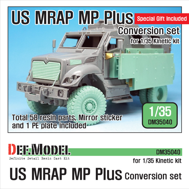 1/35 US MRAP MP Plus Conversion set (for Kinetic MRAP)