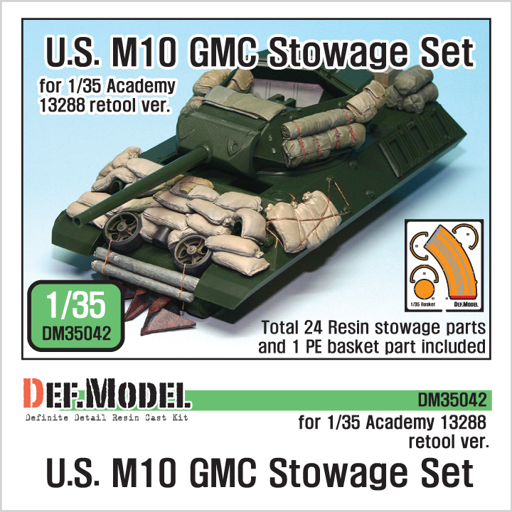1/35 U.S. M10 GMC Stowage Set(For Academy new ver & AFV club)