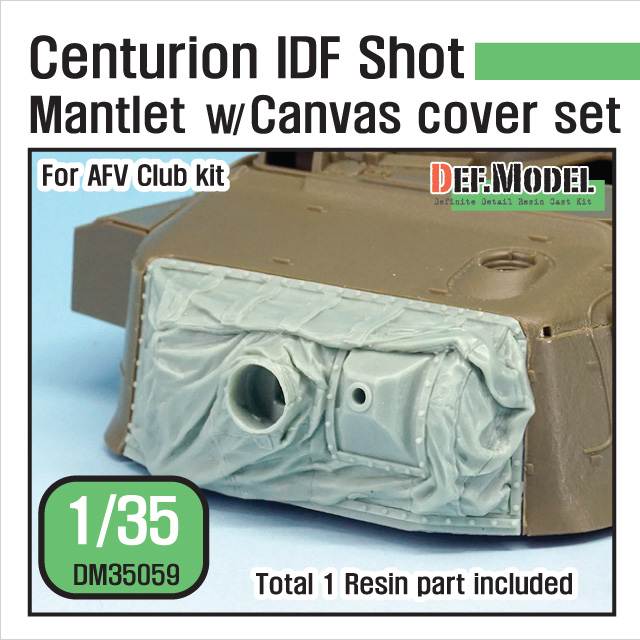 1/35 Centurion IDF Shot Mantlet w/ Canvas cover set (for AFV Clu