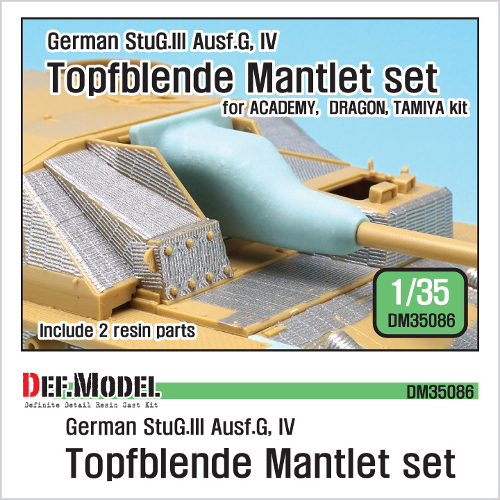 1/35 German StuG Topfblende Mantlet set (for Academy,Dragon,Tami