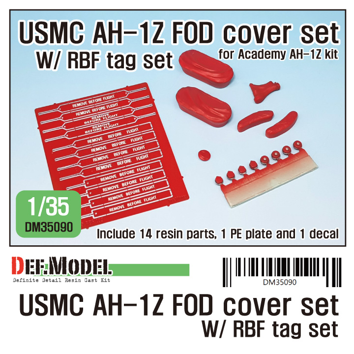 1/35 USMC AH-1Z FOD cover w/ RBF tag set(for AH-1Z Viper Academy