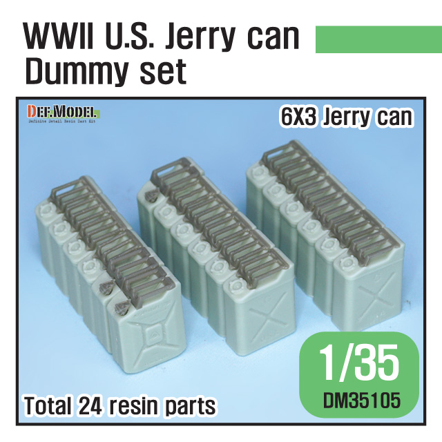 1/35 WWII U.S. Jarry can Dummy set (for Jeep trailer)