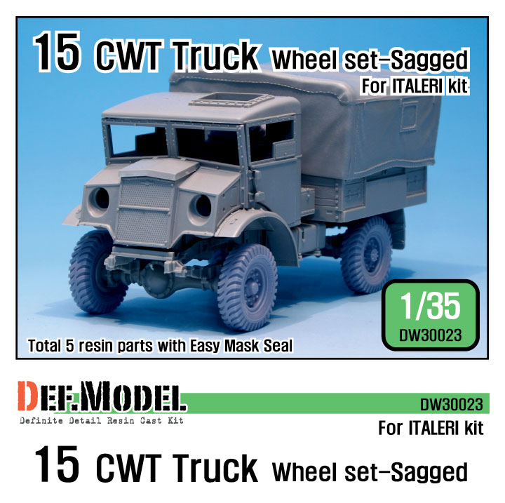 1/35 British 15 CWT Truck Wheel set (for Italeri)
