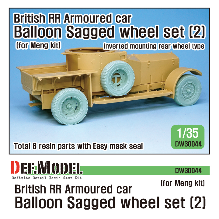 1/35 British RR Armoured car balloon Sagged Wheel set- 2 for Men