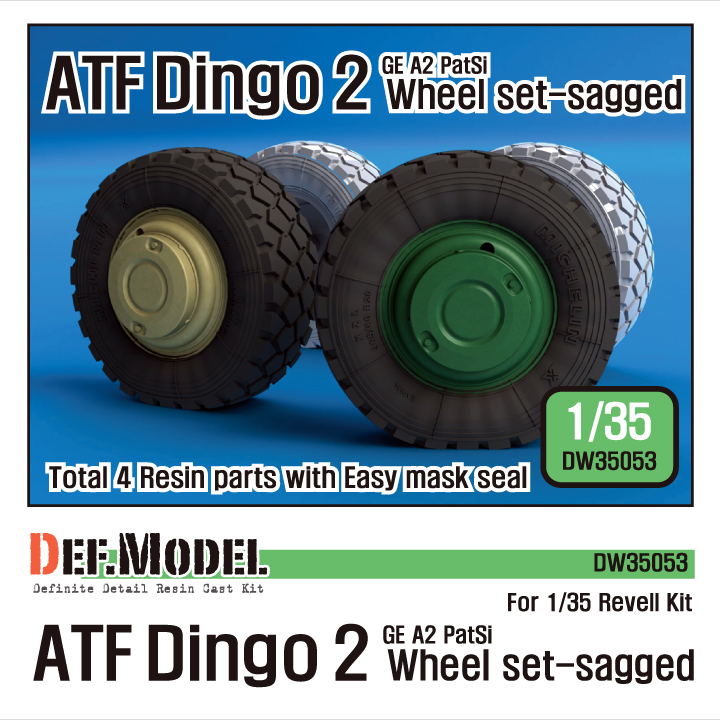 1/35 AFT Dingo2 GE A2 PatSi Sagged Wheel set (for Revell)