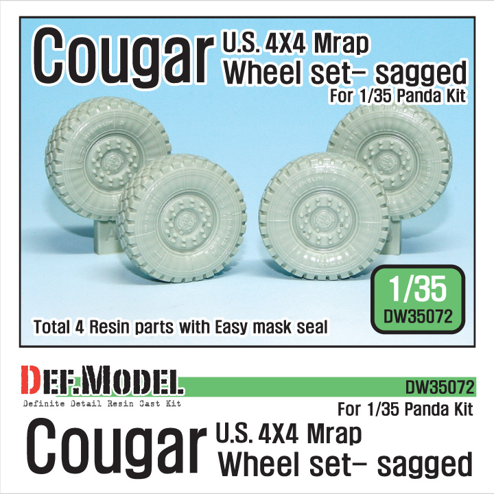 1/35 U.S Cougar MRAP Sagged Wheel set (for Panda)