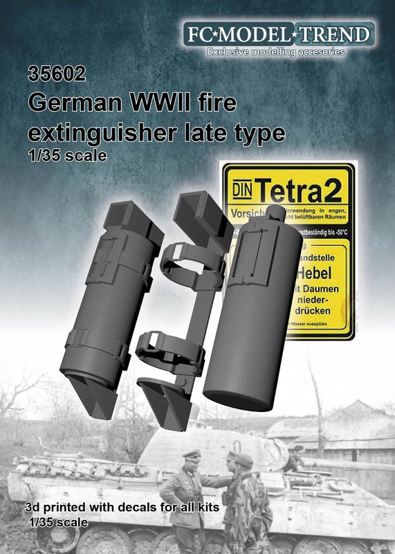 1/35 WWII ドイツ消火器 後期型