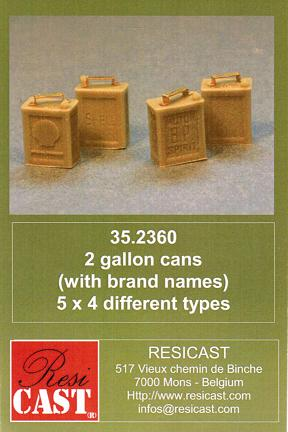 1/35 2 gallons cans(with brand names)5×4 different types